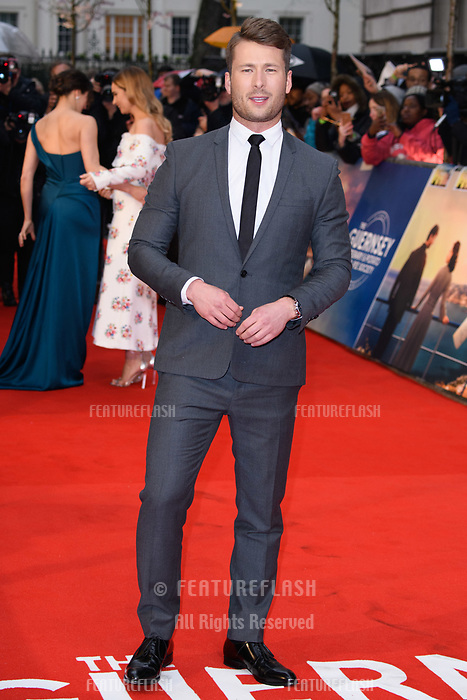 Glen Powell at 'The Guernsey Literary and Potato Peel Pie Society' film premiere, London, UK. <br /> 09 April  2018<br /> Picture: Steve Vas/Featureflash/SilverHub 0208 004 5359 sales@silverhubmedia.com