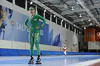 SCHAATSEN: SALT LAKE CITY: Utah Olympic Oval, 13-11-2013, Essent ISU World Cup, training, Laurine van Riessen (NED), ©foto Martin de Jong