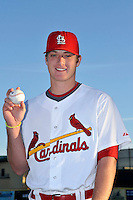 Mar 01, 2010; Jupiter, FL, USA; St. Louis Cardinals pitcher Shelby Miller (91) during  photoday at Roger Dean Stadium. Mandatory Credit: Tomasso De Rosa/ Four Seam Images