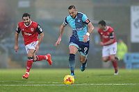 Paul Hayes of Wycombe Wanderers (centre) during the Sky Bet League 2 match between Wycombe Wanderers and Morecambe at Adams Park, High Wycombe, England on 12 November 2016. Photo by David Horn.
