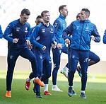 15.02.2019: Rangers training: Andy Halliday and James Tavernier