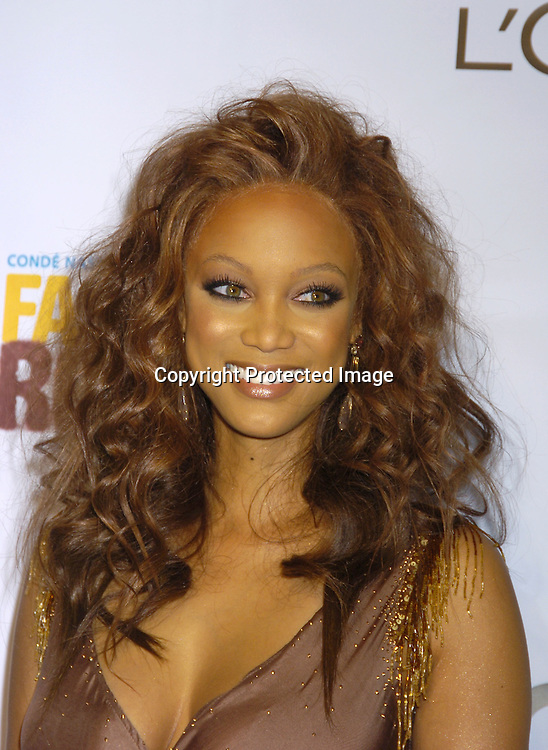 Tyra Banks..at the Conde Nast Media Group Fashion Rocks second annual live concert on September 8, 2005 at Radio City Music Hall. ..Photo by Robin Platzer, Twin Images