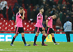 Disappointed Darren Fletcher of Scotland walk off during the FIFA World Cup Qualifying Group F match at Wembley Stadium, London. Picture date: November 11th, 2016. Pic David Klein/Sportimage
