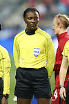 CHESTER, PA - MARCH 01: Fourth Official Cardella Samuels (JAM). The United States Women's National Team played the Germany Women's National Team as part of the She Believes Cup on March 1, 2017, at Talen Engery Stadium in Chester, PA. The United States won the game 1-0.