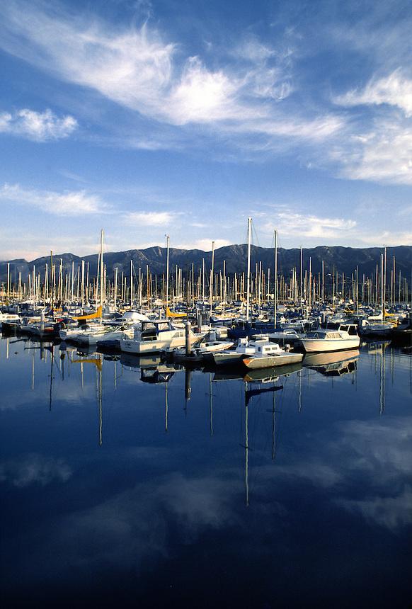 SAILBOATS at anchor - SANTA BARBARA HARBOUR