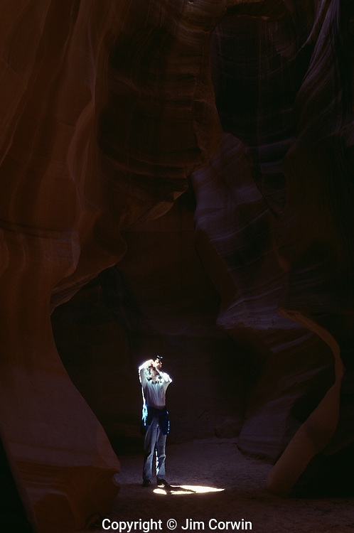 Antelope Canyon rock formations inside slot canyon near Page Arizona State USA