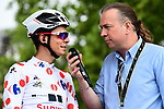 Polka Dot Jersey Warren Barguil (FRA) Team Sunweb at sign on before Stage 12 of the 104th edition of the Tour de France 2017, running 214.5km from Pau to Peyragudes, France. 13th July 2017.<br /> Picture: ASO/Alex Broadway | Cyclefile<br /> <br /> <br /> All photos usage must carry mandatory copyright credit (&copy; Cyclefile | ASO/Alex Broadway)