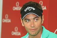 Nick Dougherty (ENG)speaking to the media on the 1st day of the Omega European Masters, Crans-Sur-Sierre, Crans Montana, Switzerland..Picture: Golffile/Fran Caffrey..