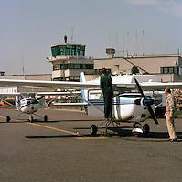 Mei 1986. Luchthaven Antwerpen.