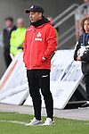 10.04.2019, Schauinsland-Reisen-Arena, Duisburg, GER, 2. FBL, MSV Duisburg vs. 1. FC Koeln,<br />  <br /> DFL regulations prohibit any use of photographs as image sequences and/or quasi-video<br /> <br /> im Bild / picture shows: <br /> Markus Anfang Trainer, Headcoach (1.FC Koeln),<br /> <br /> Foto © nordphoto / Meuter