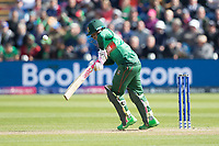 Mushfiqur Rahim (Bangladesh) gets a leading edge and is caught off the bowling of Liam Plunkett (England) during England vs Bangladesh, ICC World Cup Cricket at Sophia Gardens Cardiff on 8th June 2019