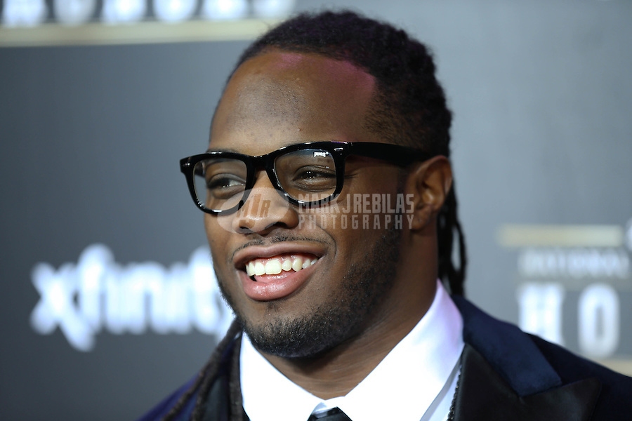 Feb. 2, 2013; New Orleans, LA, USA: NFL player Trent Richardson on the red carpet prior to the Super Bowl XLVII NFL Honors award show at Mahalia Jackson Theater. Mandatory Credit: Mark J. Rebilas-USA TODAY Sports
