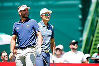 Joost Luiten (NED)  and Haotong Li (CHN) during the 2nd round at the Nedbank Golf Challenge hosted by Gary Player,  Gary Player country Club, Sun City, Rustenburg, South Africa. 09/11/2018 <br /> Picture: Golffile | Tyrone Winfield<br /> <br /> <br /> All photo usage must carry mandatory copyright credit (&copy; Golffile | Tyrone Winfield)