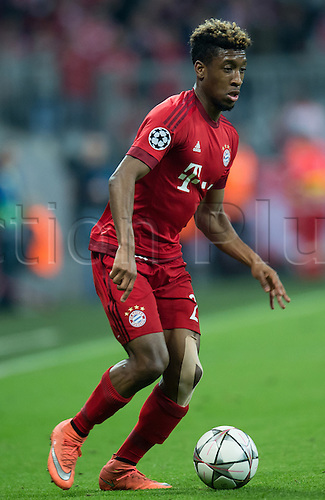 05.04.2016. Munich, Germany.  Munich's Kingsley Coman in action during the Champions League quarter finals first leg soccer match between Bayern Munich and S.L. Benfica at Allianz Arena