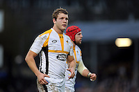 Joe Launchbury of Wasps looks on during a break in play. European Rugby Champions Cup match, between Bath Rugby and Wasps on December 19, 2015 at the Recreation Ground in Bath, England. Photo by: Patrick Khachfe / Onside Images