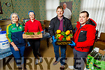 The volunteers of St Vincent de Paul in Tralee getting foods ready for their delivery service.<br /> Front l to r: Junior Locke and Paddy Kevane.<br /> Back Elaine Griffin and Sharon O'Sullivan