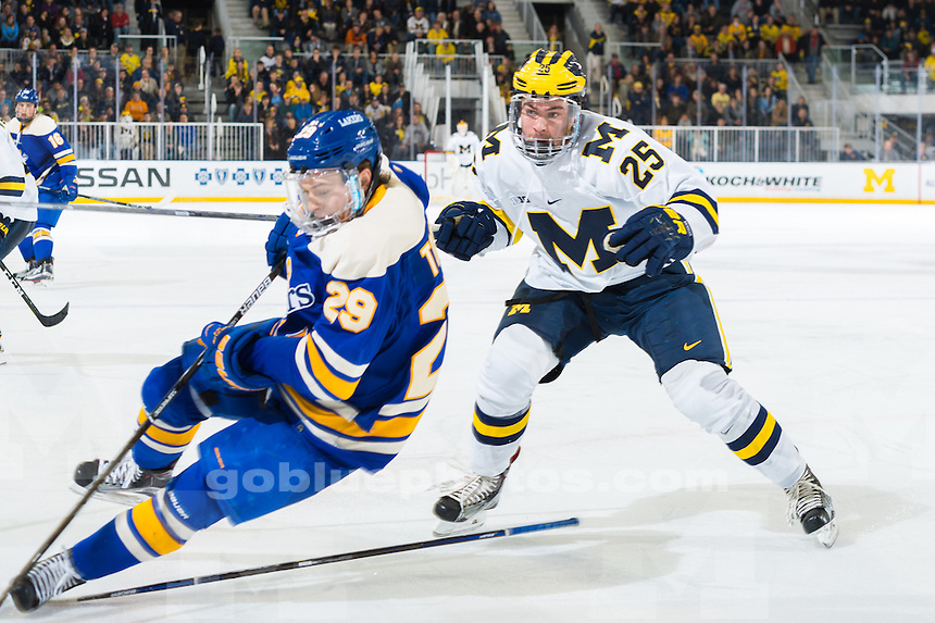The University of Michigan hockey team,3-1,loss to Lake Superior State University at Yost Ice Arena in Ann Arbor on Nov. 25, 2016.