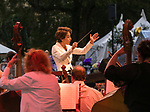 Music director Laura Jackson during Pops on the River at Wingfield Park in Reno, Nevada on Saturday, July 14, 2018.