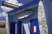 AJ2423, St. Martin, Caribbean, Caribbean Islands, Surf Club South Bar & Restaurant in Grand Case on the island of Saint Martin (french part).