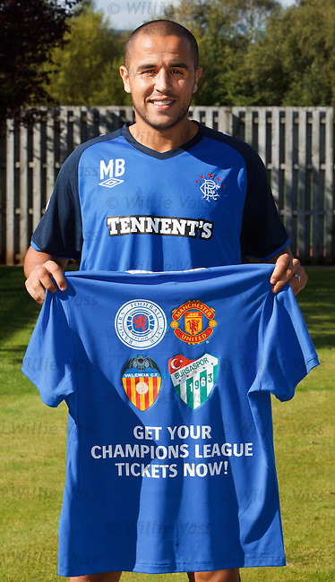 Madjid Bougherra for Sundays as he promotes match packages for Rangers home Champions League games