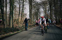 Albanian National Champion Ylber Sefa (ALB/Tarteletto - Isorex) at the front<br /> <br /> 51th Le Samyn 2019 <br /> Quaregnon to Dour (BEL): 200km<br /> <br /> ©kramon