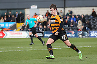 Sam Muggleton of Barnet during the Sky Bet League 2 match between Barnet and Luton Town at The Hive, London, England on 28 March 2016. Photo by David Horn.