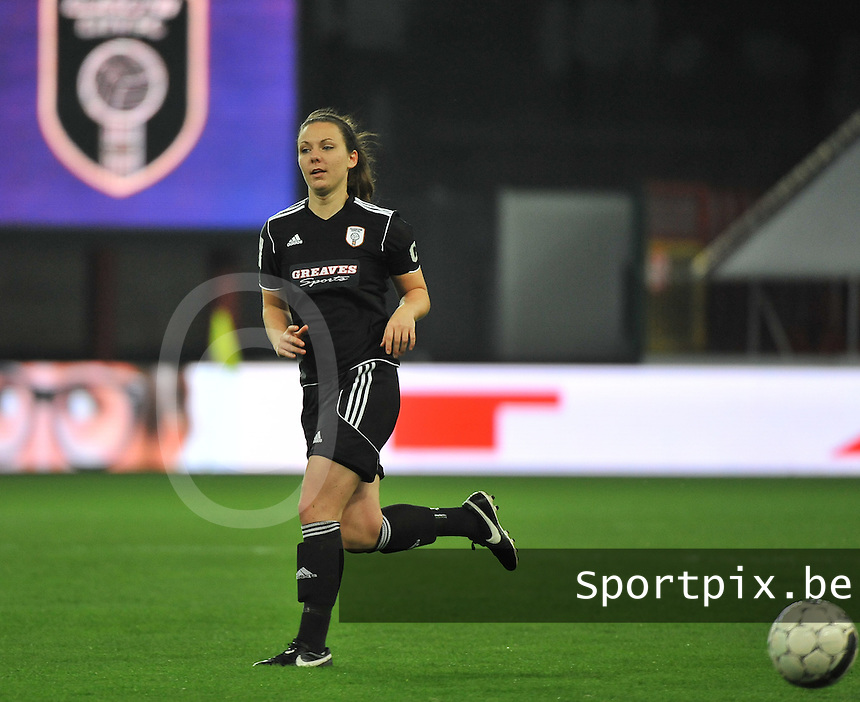 20131009 - LIEGE , BELGIUM : Glasgow Rachel Corsie pictured during the female soccer match between STANDARD Femina de Liege and  GLASGOW City LFC , in the 1/16 final ( round of 32 ) first leg in the UEFA Women's Champions League 2013 in stade maurice dufrasne - Sclessin in Liege. Wednesday 9 October 2013. PHOTO DAVID CATRY