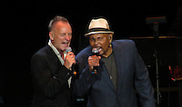 NEW YORK, NY - OCTOBER 4: Sting and Aaron Neville at Paul Simon's Children's Health Fund's 25th Anniversary Benefit Concert at Radio City Music Hall on October 4, 2012. Credit Jen Maler/MediaPunch Inc. © /NortePhoto /©NortePhoto