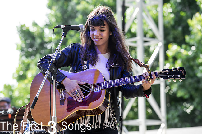 Alynda Lee Segarra of Hurray for the Riff Raff performs at the 2nd Annual BottleRock Napa Festival at Napa Valley Expo in Napa, California.