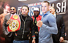 Floyd Mayweather Jr &amp; Frank Warren press conference at The Savoy Hotel, London, Great Britain <br /> 7th March 2017 <br /> <br /> Gervonta Davis <br /> (an American professional boxer who has held the IBF junior lightweight title since January 2017)<br /> <br /> Floyd Joy Mayweather Jr. is an American former professional boxer who competed from 1996 to 2015 and currently works as a boxing promoter. <br /> <br /> Liam Walsh <br /> (a British professional boxer and the current Commonwealth super featherweight champion)<br /> <br /> <br /> <br /> Photograph by Elliott Franks <br /> Image licensed to Elliott Franks Photography Services
