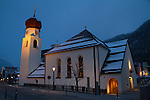 Church in St Anton, Austria, Europe 2014,