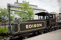 The 1932 Edison steam locomotive is seen in Dearborn' Greenfield Village in Dearborn, near Detroit (Mi) Saturday June 8, 2013. Founded by Henry Ford, the Henry Ford Museum and Greenfield Village (more formally as the Edison Institute) preserves items of historical significance.