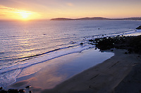California, Bodega Bay, Sunset over Bodega Head