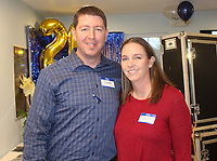 Josh and Jill Bryant stand for a photo at the CAC open house.<br /> (NWA Democrat-Gazette/Carin Schoppmeyer)