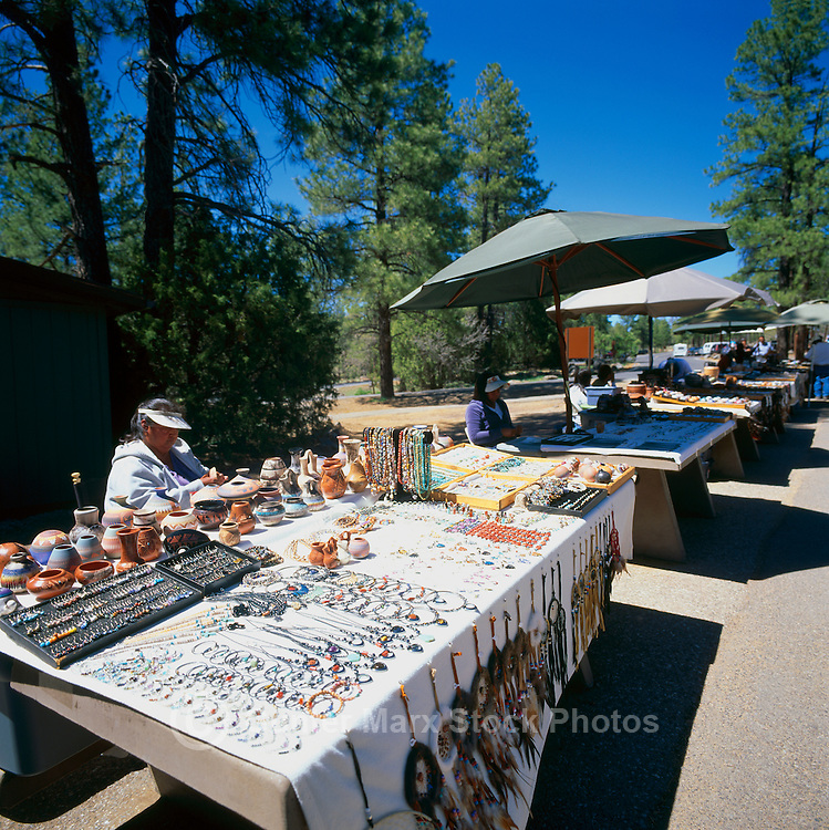 Native American Crafts and Jewelry for sale at Oak Creek Canyon Viewpoint, near Sedona, Arizona, USA