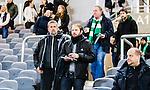 Stockholm 2015-03-01 Fotboll Svenska Cupen Hammarby IF - Landskrona BoIS :  <br /> AIK:s tr&auml;nare Andreas Alm och assisterande tr&auml;nare Nebojsa Novakovic p&aring; l&auml;ktaren p&aring; Tele2 Arena under matchen mellan Hammarby IF och Landskrona BoIS <br /> (Foto: Kenta J&ouml;nsson) Nyckelord:  Fotboll Svenska Cupen Cup Tele2 Arena Hammarby HIF Bajen Landskrona BOIS inomhus interi&ouml;r interior tr&auml;nare manager coach portr&auml;tt portrait