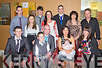BABY JOY: Proud parents Danny Hobbert and Laura Cox, Forge Cross, Tralee of little Emma who Christening in St Brendan's Church, Tralee and celebrated afterwards with family and friends at O'Donnell's restaurant and bar, Tralee on Saturday seated l-r: Ryan Cox, Dylan, Danny Hobbert, Laura Coz, Emma Hobbert and Casey Hobbert. Back l-r: Eamonn Cox, Faith Cox, Paudie Hobbert, Bridget Hobbert, Neil Hobbert, Margaret Hobbert, Paudie Hobbert.