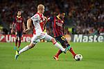 UEFA Champions League 2013/2014.<br /> FC Barcelona vs AFC Ajax: 4-0 - Game: 1.<br /> Sana vs Dani Alves.