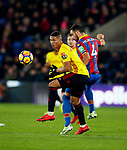 Crystal Palace's Luka Milivojevic tussles with Watford's Richarlison during the premier league match at Selhurst Park Stadium, London. Picture date 12th December 2017. Picture credit should read: David Klein/Sportimage