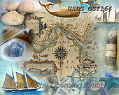 MODERN, MODERNO, paintings+++++GST_Antique Sail the Ocean Blue puzzle,USLGGST164,#N#, EVERYDAY ,collages,puzzle,puzzles ,photos ,Graffitees