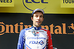 Thibaut Pinot (FRA) Groupama-FDJ climbs to stage victory on the Col du Tourmalet at the end of Stage 14 of the 2019 Tour de France running 117.5km from Tarbes to Tourmalet Bareges, France. 20th July 2019.<br /> Picture: Colin Flockton | Cyclefile<br /> All photos usage must carry mandatory copyright credit (© Cyclefile | Colin Flockton)