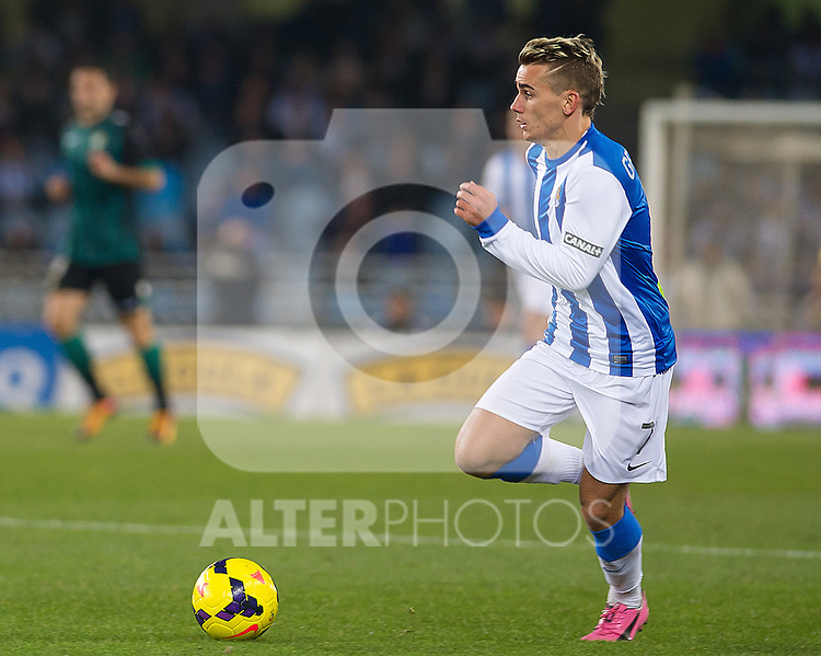 Real Sociedad's Antoine Griezman during La Liga match.November 23,2013. (ALTERPHOTOS/Mikel)