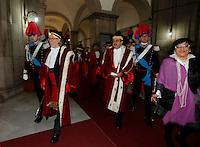 Giuseppe de Carolis  parla durante la cerimonia di innagurazione anno giudiziario in Campania <br /> Salone dei Busti Castel Capuano Napoli