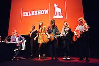 Utrecht, 25 september 2014<br /> Nederlands Film Festival<br /> Talkshow o.l.v. Art Rooijakers<br /> Met 3FM Serious Talent Bells of Youth. <br /> Foto Felix Kalkman