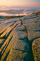 Granite,  summit of Cadillac Mountain<br />   and Otter Point<br /> Acadia National Park<br /> Mount Desert Island,  Maine