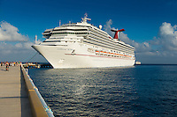 Carnival Glory Cruise Ship In Cozumel Port, Mexico