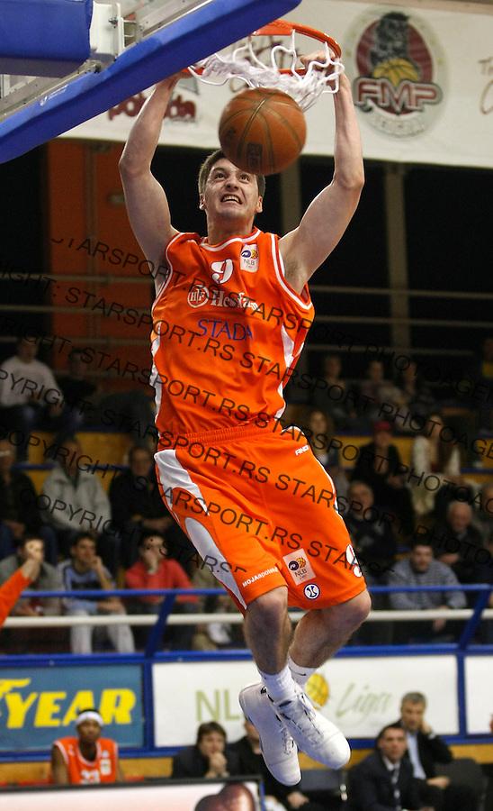 Kosarka, NLB Liga-Regionalna, sezona 2007/08.FMP (Zeleznik) Vs. Hemofarm (Vrsac).Stefan Markovic.Beograd, 23.02.2008..foto: Srdjan Stevanovic