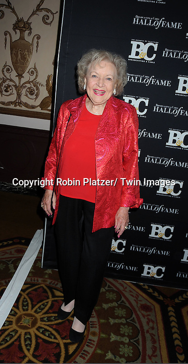 honoree Betty White attends the 2011 Broadcasting & Cable Hall of Fame Awards on October 26, 2011 at the Waldorf Astoria Hotel in New York City.