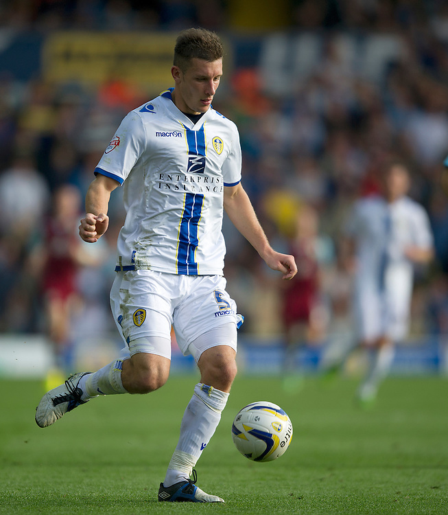 Leeds United's Jason Pearce<br /> <br /> Photo by Stephen White/CameraSport<br /> <br /> Football - The Football League Sky Bet Championship - Leeds United v Burnley - Saturday 21st September 2013 - Elland Road - Leeds<br /> <br /> &copy; CameraSport - 43 Linden Ave. Countesthorpe. Leicester. England. LE8 5PG - Tel: +44 (0) 116 277 4147 - admin@camerasport.com - www.camerasport.com