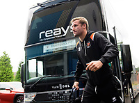 Blackpool's Nick Anderton gets off the team bus after arriving at the ground<br /> <br /> Photographer Chris Vaughan/CameraSport<br /> <br /> The EFL Sky Bet League One - Coventry City v Blackpool - Saturday 7th September 2019 - St Andrew's - Birmingham<br /> <br /> World Copyright © 2019 CameraSport. All rights reserved. 43 Linden Ave. Countesthorpe. Leicester. England. LE8 5PG - Tel: +44 (0) 116 277 4147 - admin@camerasport.com - www.camerasport.com